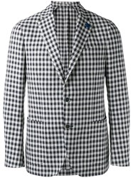 Lardini Single Breasted Blazer Blue