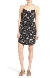 Women's Madewell 'Starview' Batik Grid Silk Cami Minidress
