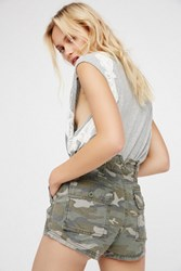 Free People Womens Hi Waisted Military Short