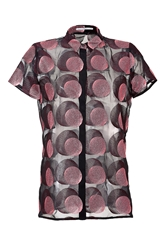 Marco De Vincenzo Embroidered Polka Dot Pleat Blouse