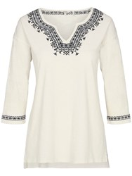 Fat Face Bantham Embroidered Top Ivory