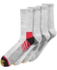 Gold Toe Men's Socks Athletic Cushion Crew 4 Pack Asst 12