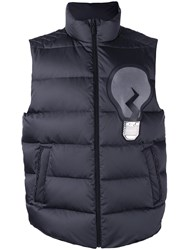 Fendi Padded Gilet Jacket Men Polyester Feather Duck Feathers 52 Grey