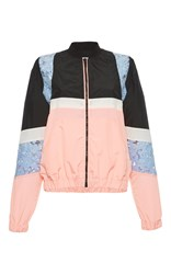 Msgm Color Block Nylon Jacket Multi