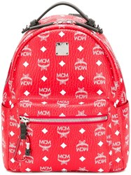 Mcm Stark Backpack Red