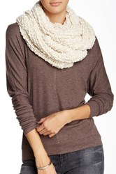 14Th And Union Boucle Popcorn Infinity Scarf White