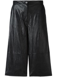 Maison Martin Margiela Mm6 Leather Effect Shorts Black