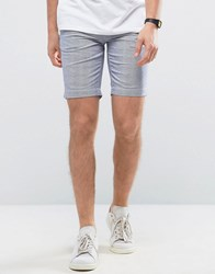 Casual Friday Striped Chino Shorts 50410 Navy Blue