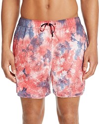 Original Paperbacks Waikiki Tie Dye Swim Trunks 100 Bloomingdale's Exclusive Red White Blue