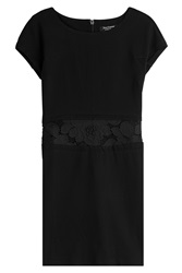 Juicy Couture Embroidered Jersey Dress Black