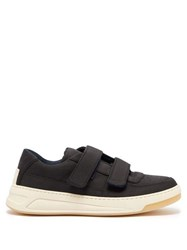 Acne Studios Perey Low Top Suede Trainers Black White