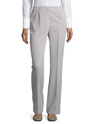 Nipon Boutique Straight Leg Striped Dress Pants White Black