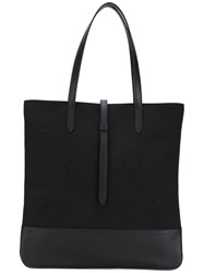 Tomas Maier Classic Shopping Bag Women Cotton Leather One Size Black