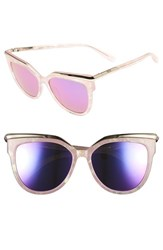 Mcm Women's 56Mm Cat Eye Sunglasses Sparkly Pink
