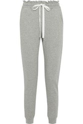 A.L.C. Emory French Cotton Terry Track Pants Gray