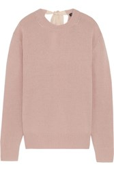 Joseph Tie Back Cashmere Sweater Blush