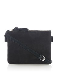 Pieces Lacee Leather Crossbody Bag Black