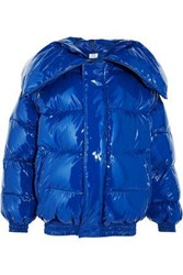 Vetements Quilted Coated Down Jacket Bright Blue