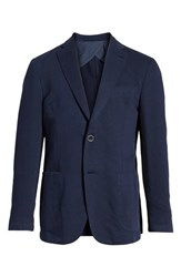 Bugatchi Unstructured Cotton And Linen Blazer Navy