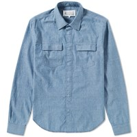 Maison Martin Margiela 10 Japanese Chambray Overshirt Blue