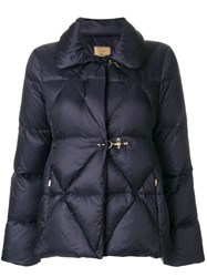 Fay Puffer Jacket Women Feather Down Polyamide M Blue