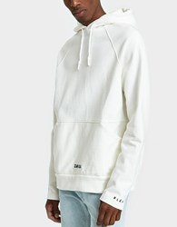 Olaf Hussein Heavy Front Pocket Hoodie White