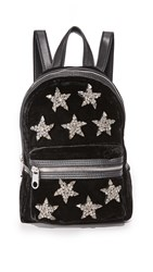 Cynthia Rowley Knox Velvet Mini Backpack Black