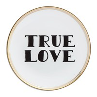 Bitossi Funky Table Plate True Love Black And White