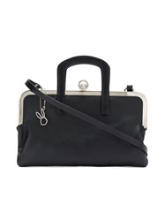 Gloria Coelho Panelled Shoulder Bag Black