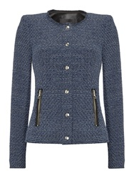Oui Jacket With Zip Pocket Detail Navy