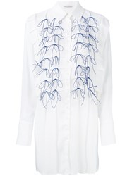 Marco De Vincenzo Embroidered Shirt Dress Women Polyester 44 White