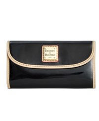 Dooney And Bourke Patent Continental Clutch Wallet Black