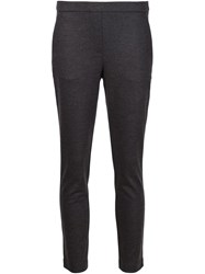 Theory 'Thaniel K' Cropped Trousers Grey