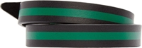 Dsquared Black And Green Leather Wrap Bracelet