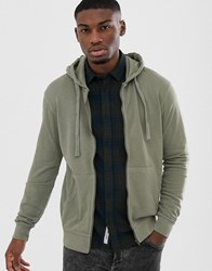 Only And Sons Zip Thru Sweat Hoodie Grey