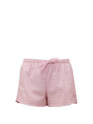 Derek Rose Ledbury 27 Geometric Printed Cotton Pyjama Shorts Pink