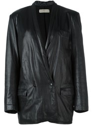 Versace Vintage Leather Jacket Black