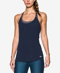 Under Armour Fly By Racerback Running Tank Top Midnight Navy