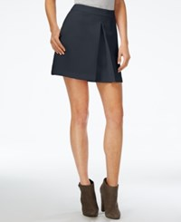 Armani Exchange Pleated A Line Skirt Blue