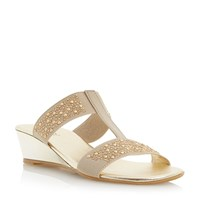 Episode Kandie Jewelled Elastic Sandal Metallic