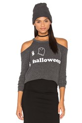 Chaser I Heart Halloween Sweater Charcoal