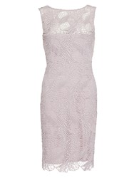 Gina Bacconi Abstract Guipure Dress Dusty Lilac