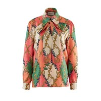 Gucci Rhombus Shirt Salmon Green Printed
