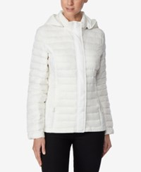 32 Degrees Packable Hooded Puffer Coat White