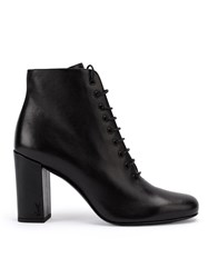Saint Laurent Babies 90 Lace Up Ankle Boots Black