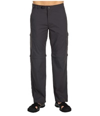 Prana Stretch Zion Convertible Pant Charcoal Men's Casual Pants Gray
