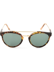 Retro Super Future 'Giaguaro Quasimodo' Sunglasses Brown