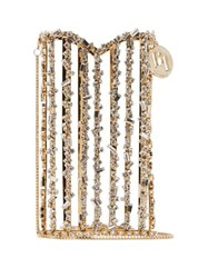 Rosantica By Michela Panero Oasis Crystal Embellished Cross Body Phone Case Gold Multi