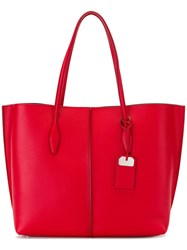 Tod's Joy Large Tote Red