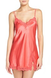 In Bloom By Jonquil Women's Satin Chemise Dark Coral